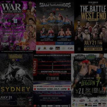 Fight Shows & Tournaments This Weekend & Monday - July 21-23, 2018